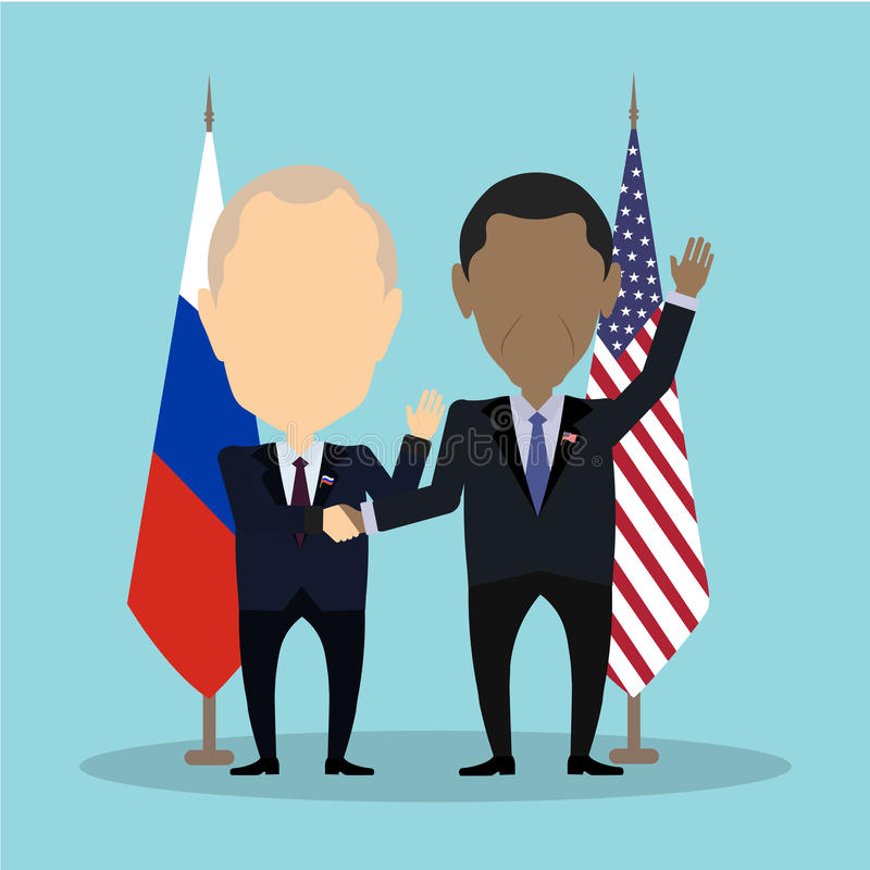 Politiciens américains et russes illustration stock