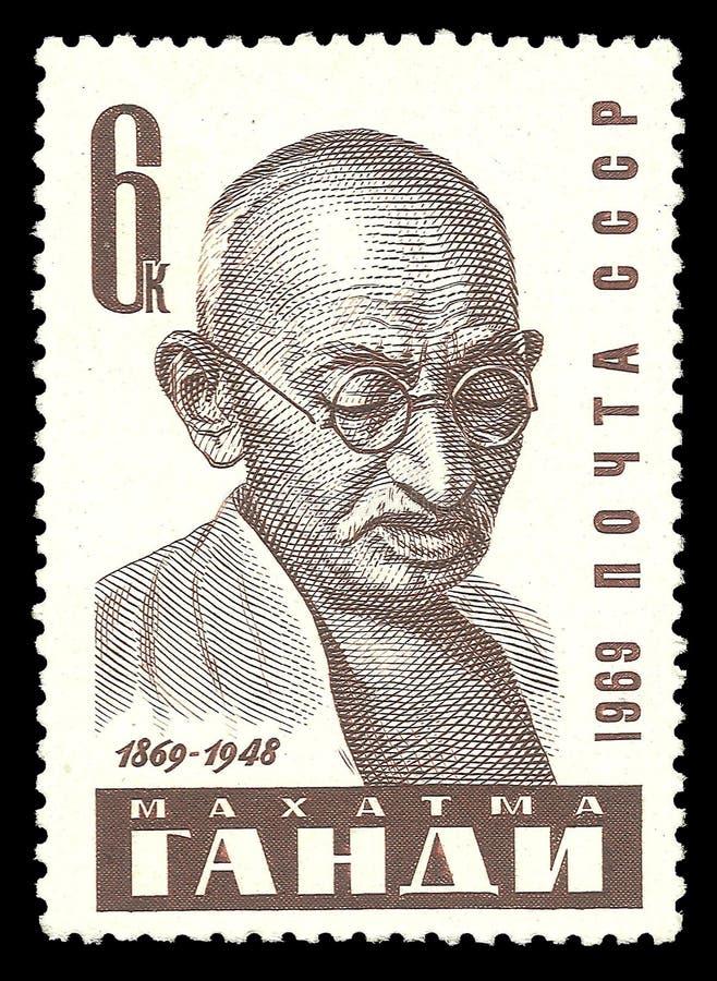 Politiciens célèbres, Mahatma Gandhi photos libres de droits