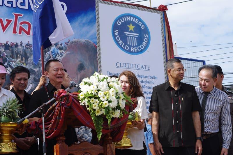 Politiciens et honorables thaïlandais de haut niveau images libres de droits