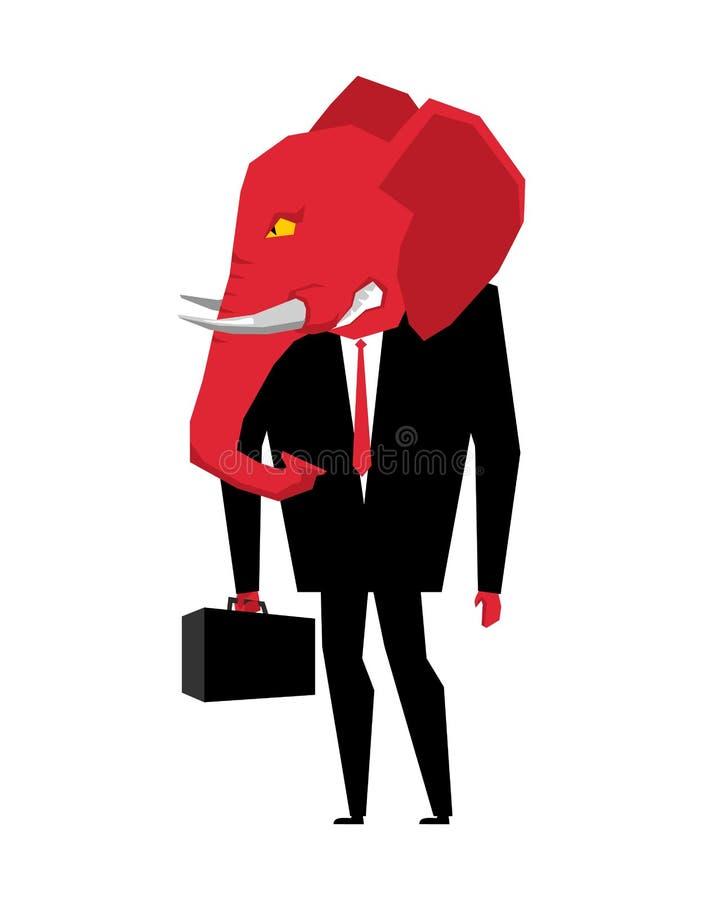 Politico del repubblicano dell'elefante Metafora del partito politico di U illustrazione vettoriale