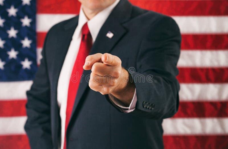 Politico: Equipaggi indicare direttamente nella macchina fotografica fotografie stock libere da diritti