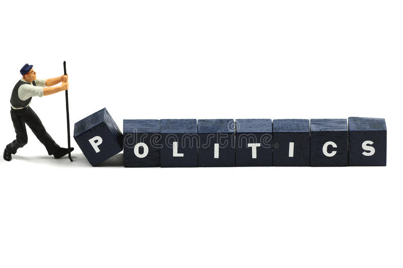 Politics. Trying to make a change in politics royalty free stock image