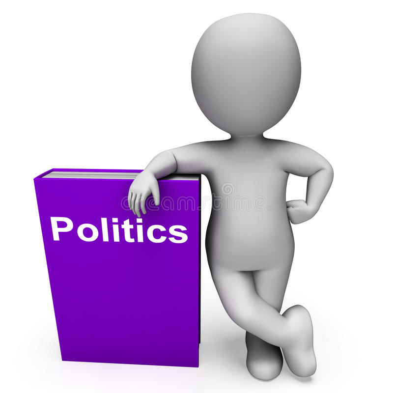 Politics Book And Character Shows Books About Government Democracy. Politics Book And Character Showing Books About Government Democracy vector illustration