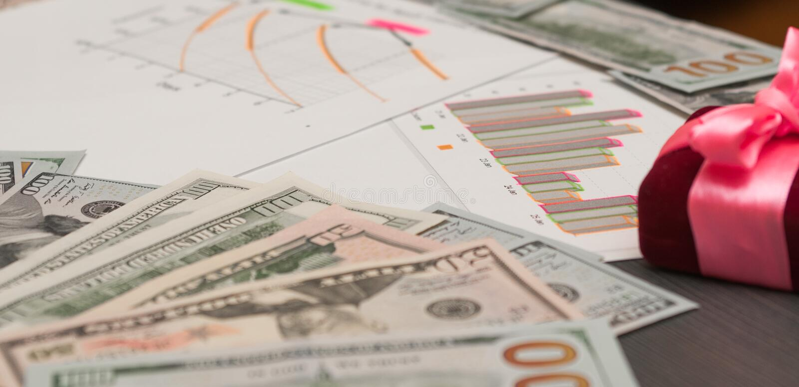 Politics and financial opportunities, a holiday gift royalty free stock photo