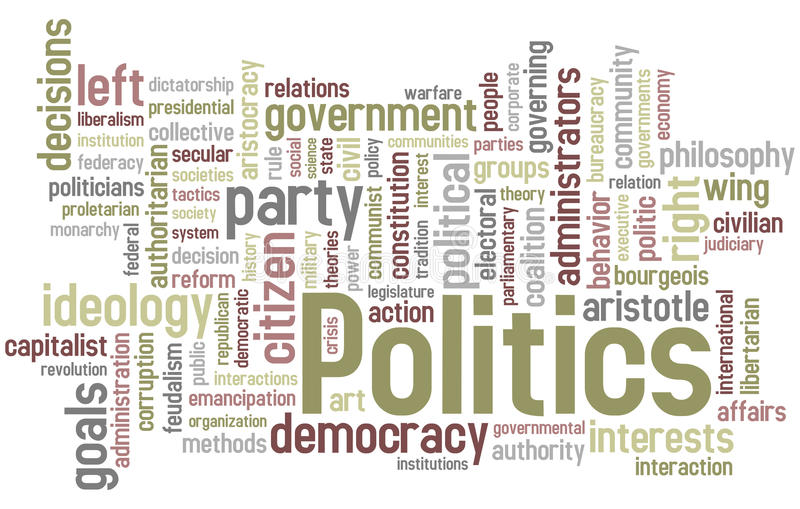 Politics Word Cloud vector illustration