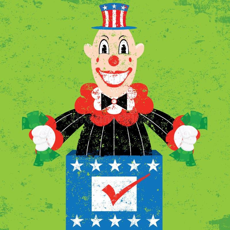 Politicus in de Doos royalty-vrije illustratie