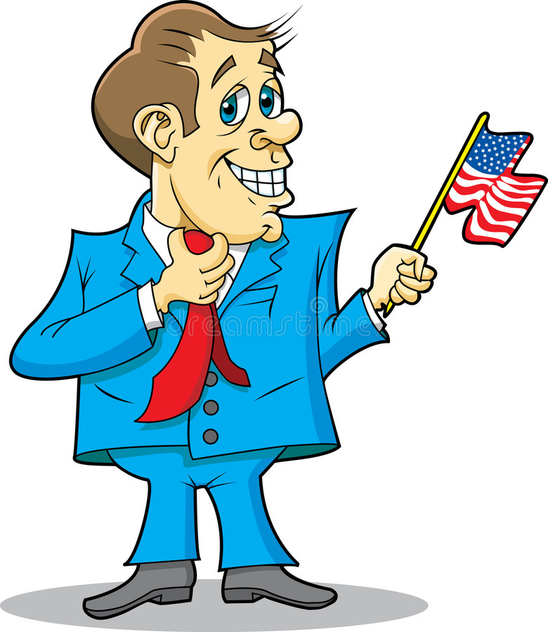 Politicus met Vlag stock illustratie