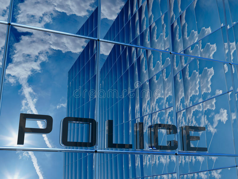 politie royalty-vrije illustratie