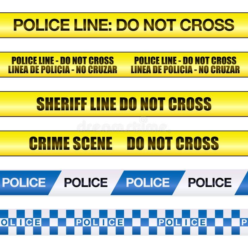 Politie Line Do Not Cross stock illustratie