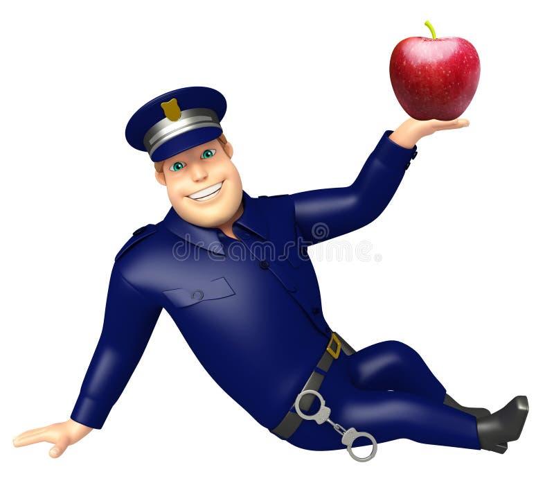Politie met Apple royalty-vrije illustratie