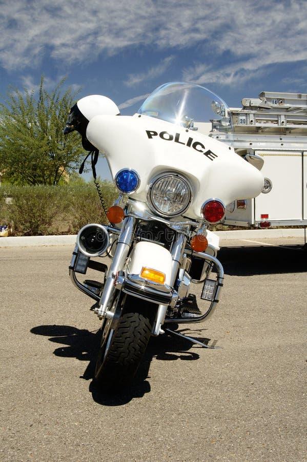 Politie motocycle. stock afbeelding