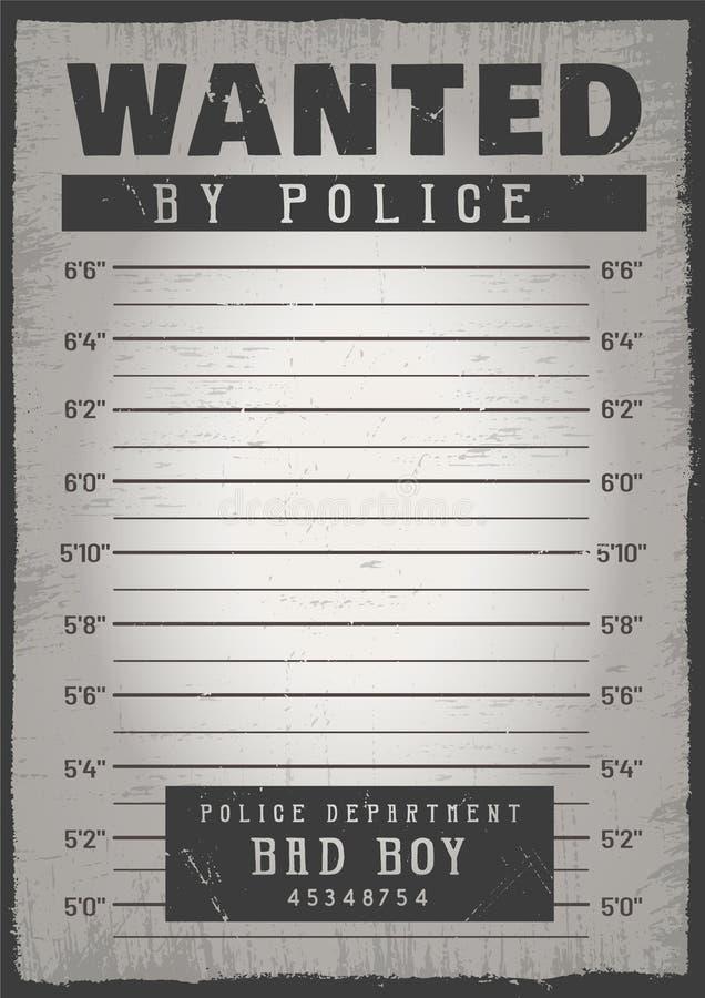 Politie mugshot achtergrond stock illustratie