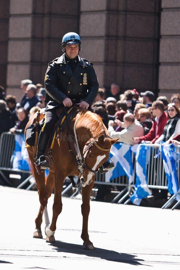 Politie op Paard royalty-vrije stock afbeelding