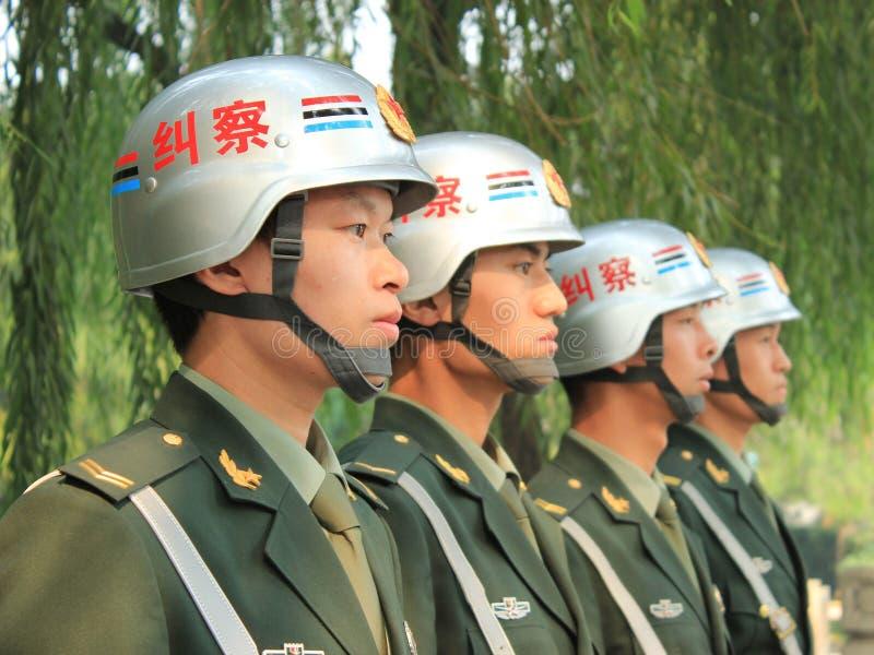 Politie in Peking royalty-vrije stock afbeeldingen