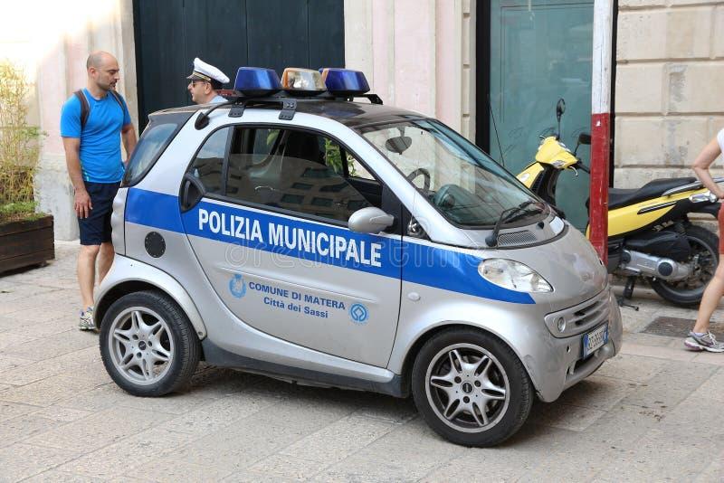 Politie Slimme auto stock foto