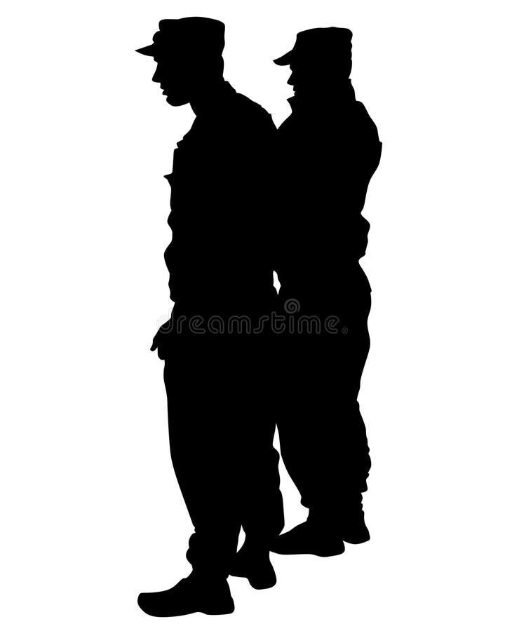Politie speciale drie royalty-vrije illustratie