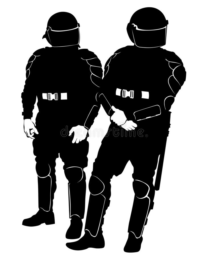 Politie speciale vier vector illustratie