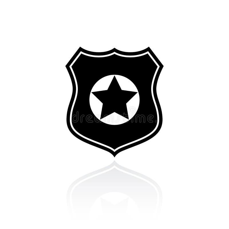 Politie vectorsymbool stock illustratie