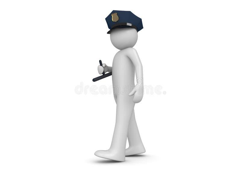 Politieagent vector illustratie