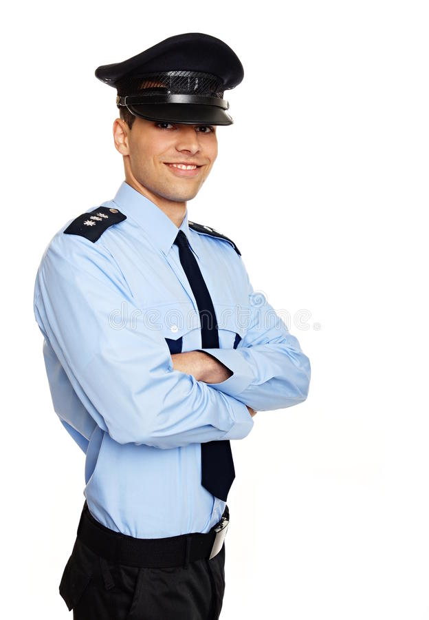 Politieagent in eenvormig royalty-vrije stock foto's