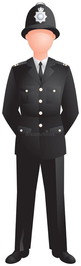 Politieagent in eenvormig, beeld stock illustratie