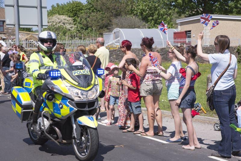 Politieagent op motor stock fotografie
