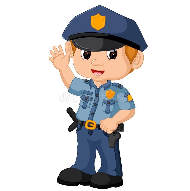Politieagentbeeldverhaal vector illustratie