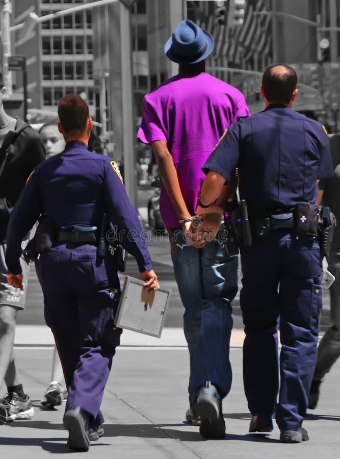 Politiearrestatie in Ny royalty-vrije stock foto