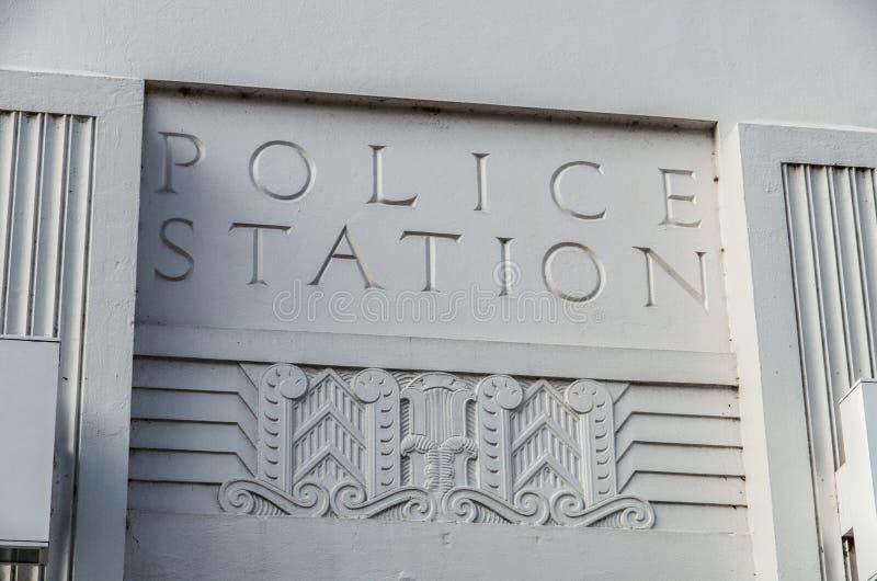 Politiebureauteken stock afbeelding