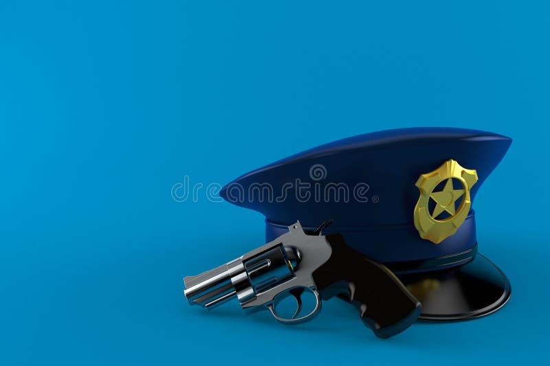 Politiehoed met kanon vector illustratie