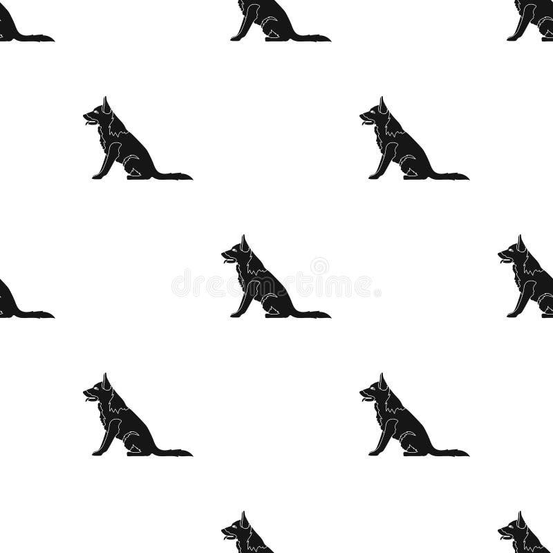 Politiehond voor het vasthouden van misdadigers Opgeleide herder voor gevangenis Gevangenis enig pictogram in de zwarte voorraad  stock illustratie