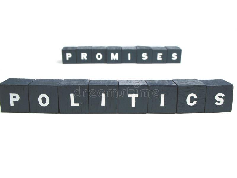 Politiek en beloften royalty-vrije stock foto