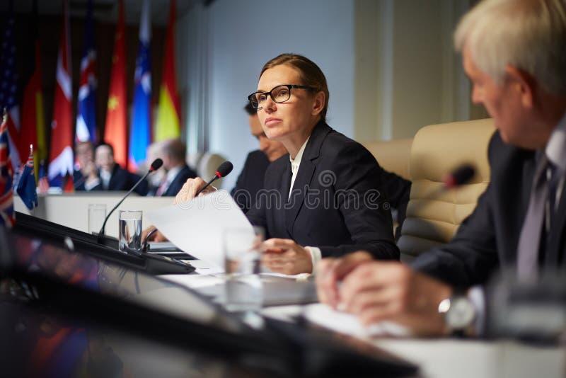 Politiek rapport royalty-vrije stock foto