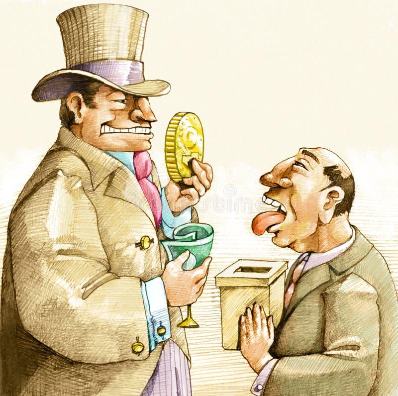 Politieke Corruptie stock illustratie
