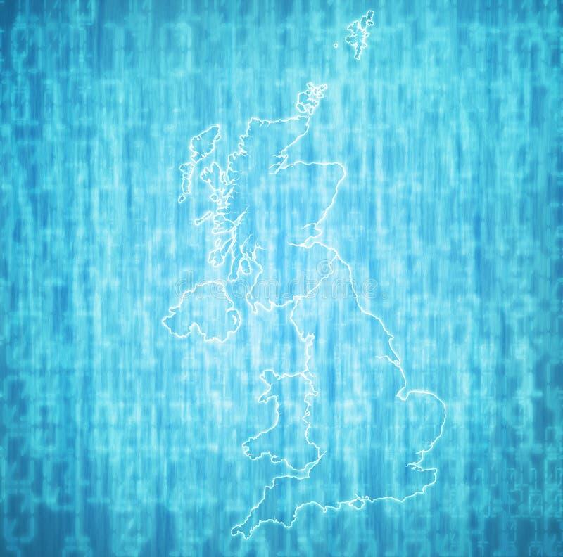 politieke kaart van het verenigd koninkrijk met de lidstaten stock illustratie