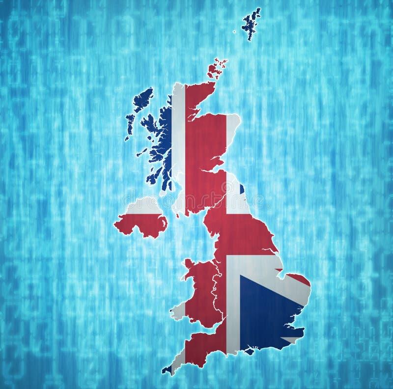 politieke kaart van het verenigd koninkrijk met de lidstaten vector illustratie