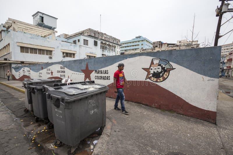 Politieke propaganda in Cuba stock fotografie