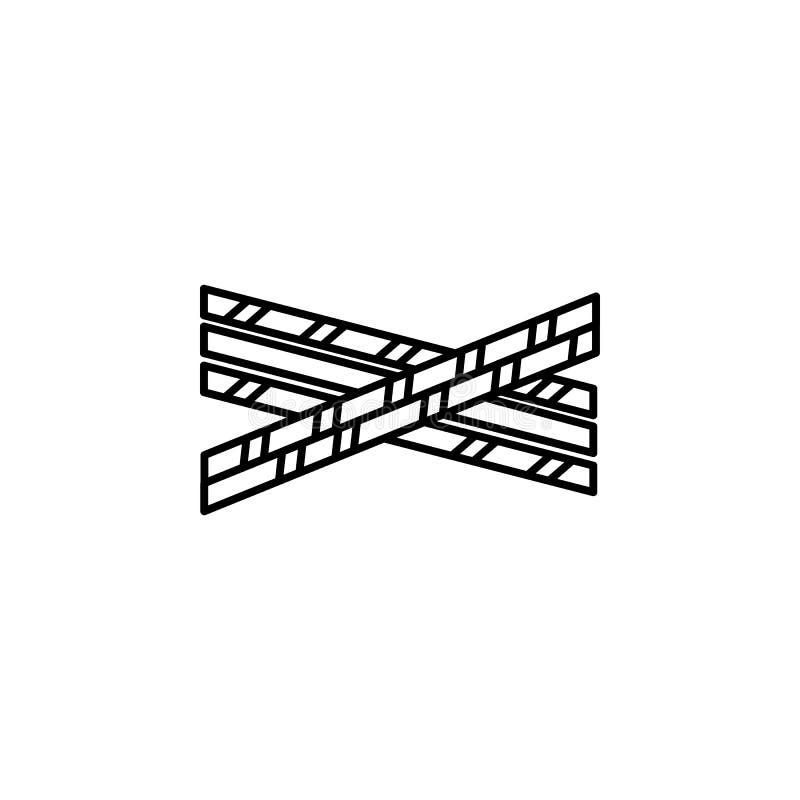 Politielijn, wetspictogram Element van wet en rechtvaardigheidspictogram Dun lijnpictogram voor websiteontwerp en ontwikkeling, a royalty-vrije illustratie