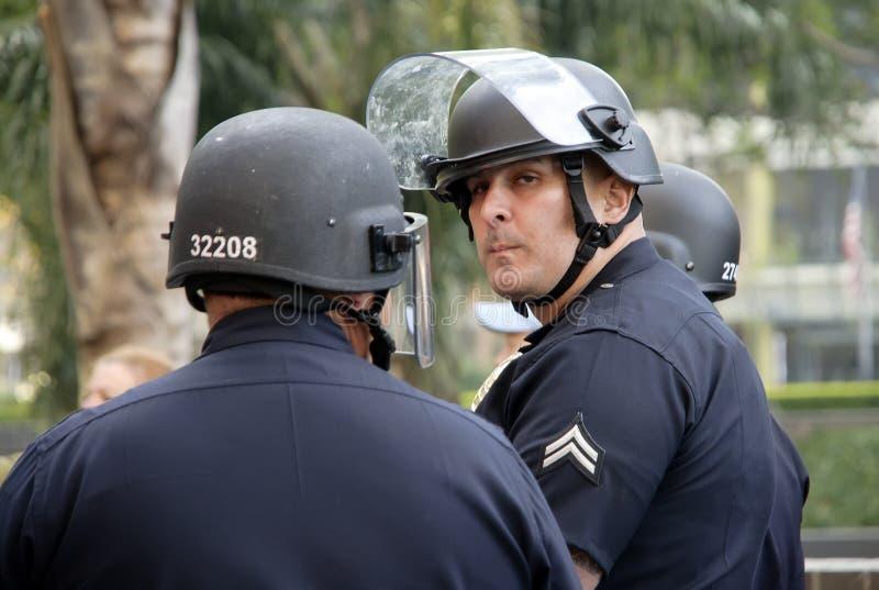 Politiemannen stock foto