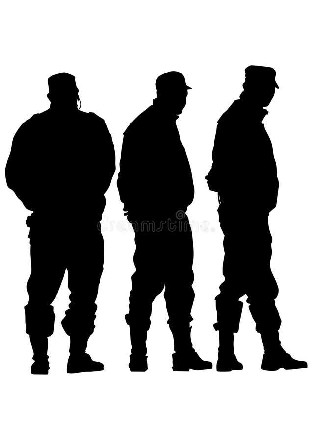 Politiemens negen royalty-vrije illustratie