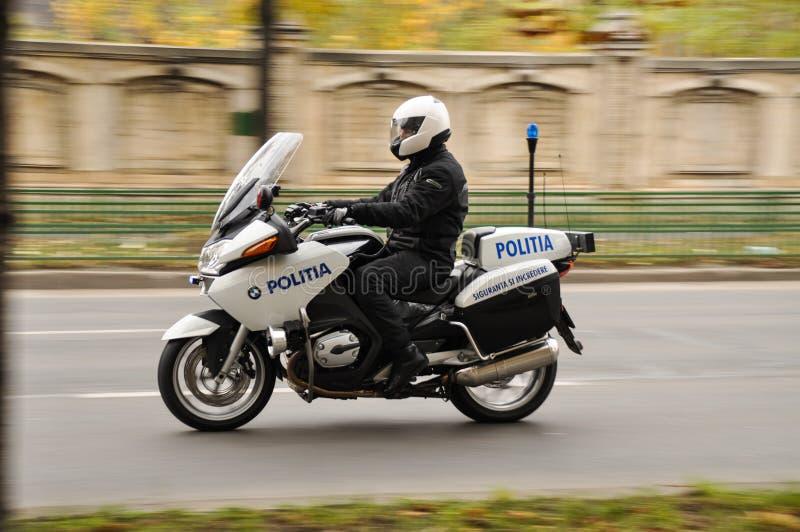 Politiemotorfiets royalty-vrije stock afbeeldingen