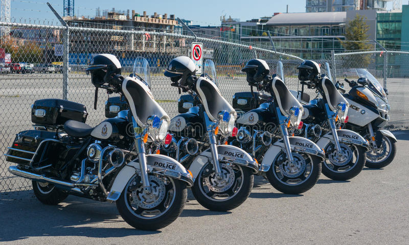 Politiemotorfietsen royalty-vrije stock foto