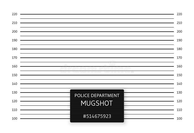 Politieopstelling of mugshot achtergrond Vector illustratie vector illustratie