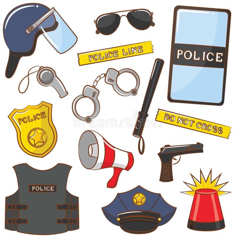 Politiepictogrammen royalty-vrije illustratie