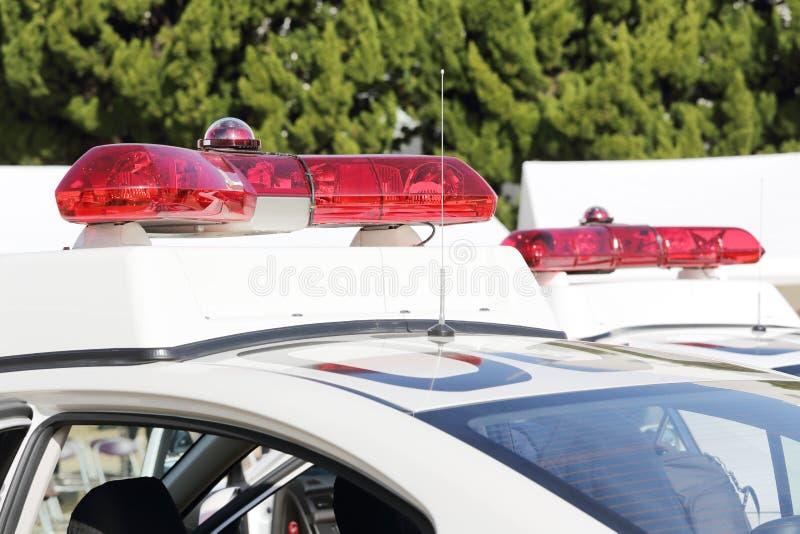 Politierood licht stock foto's