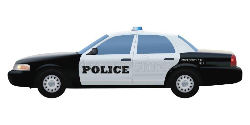 Politiewagen gedetailleerde vectorillustratie stock illustratie