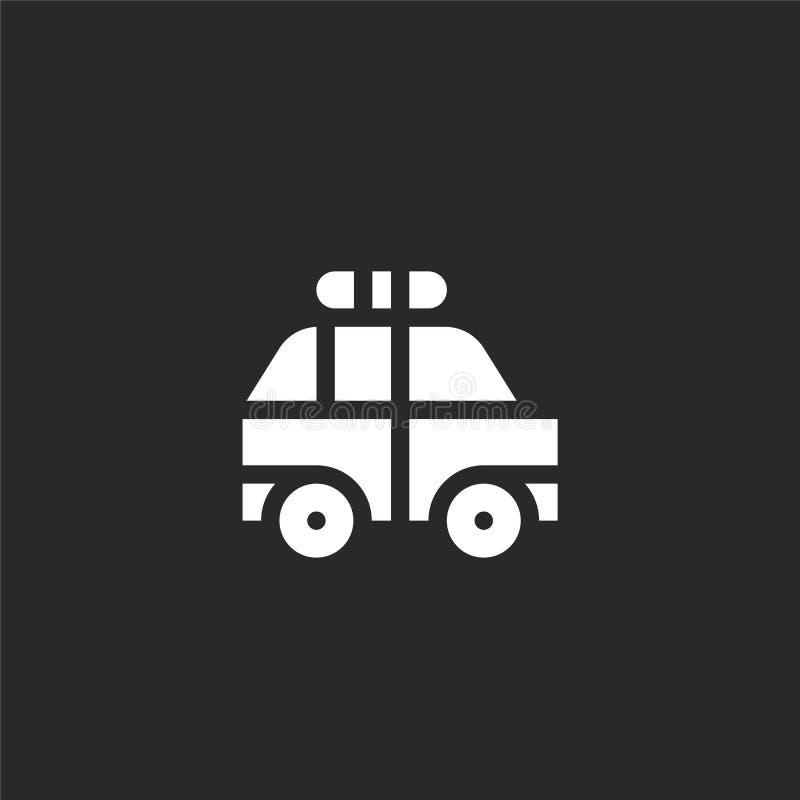 Politiewagenpictogram Gevuld politiewagenpictogram voor websiteontwerp en mobiel, app ontwikkeling politiewagenpictogram van gevu royalty-vrije illustratie