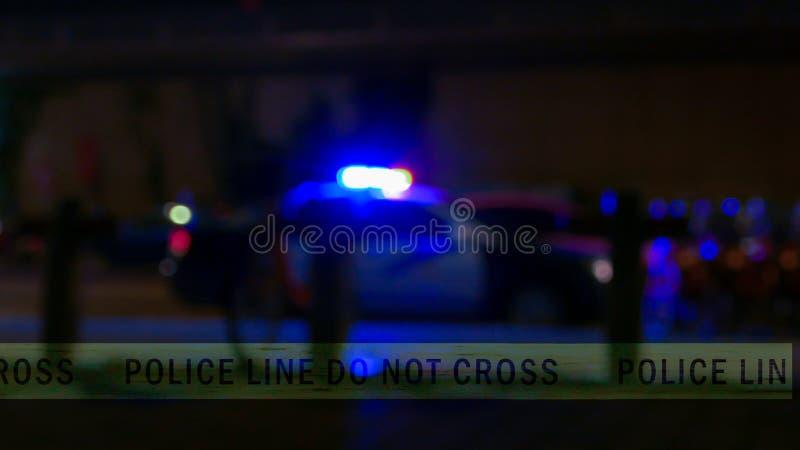 Politiewagensirene met grensband, Defocused stock foto