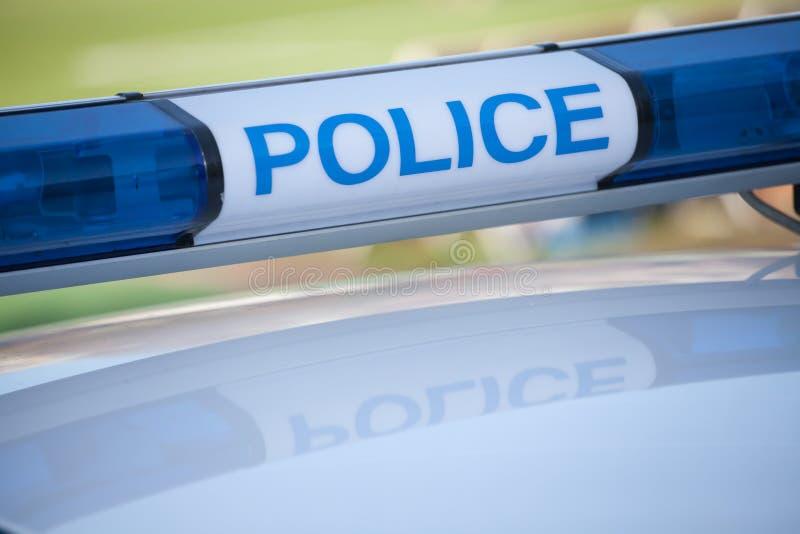 Politiewagenteken stock foto's