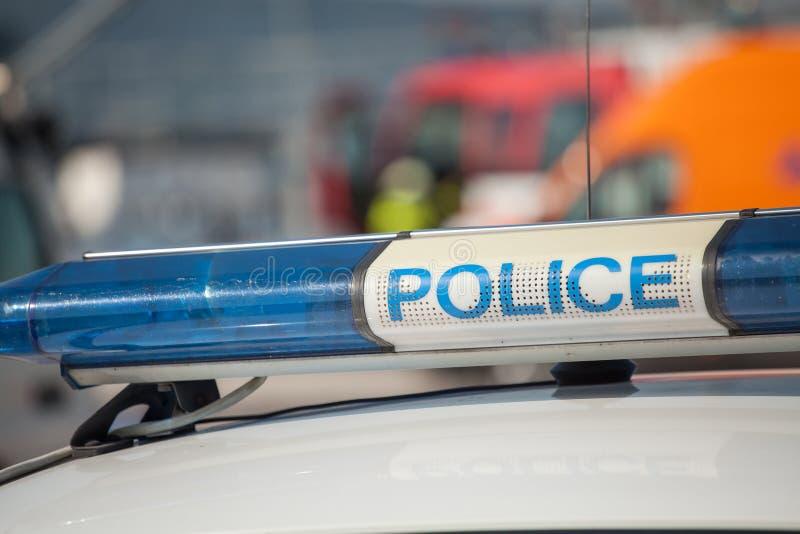 Politiewagenteken Sirenelicht royalty-vrije stock foto